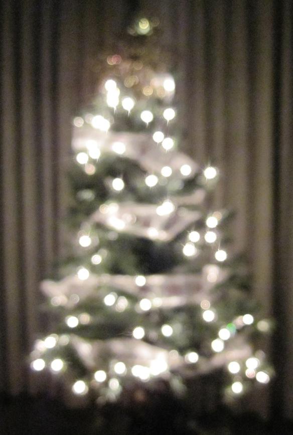 Twinkly Christmas lights.
