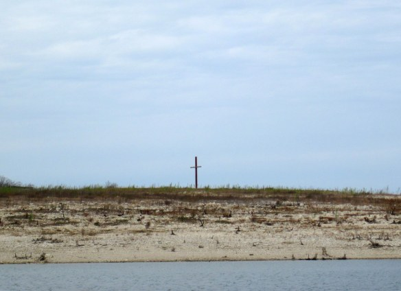 Cross on Graveyard Point on Lake Travis.