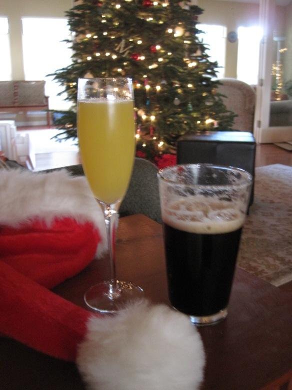 His & hers Christmas libations.
