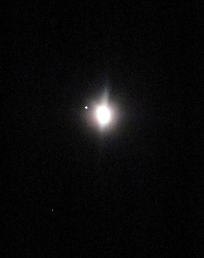 Conjunction of Jupiter and the moon.
