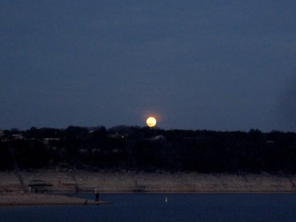 Full Wolf moon.