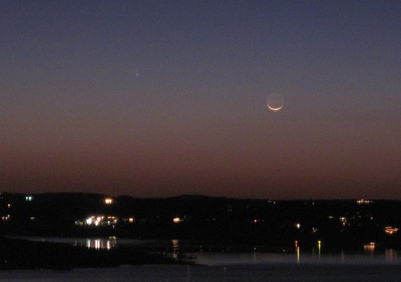 Comet PANSTARRS over Lake Travis.