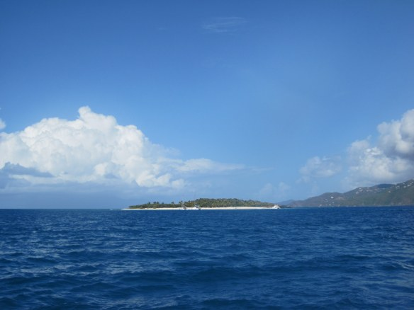 Sandy Cay, coming from Jost